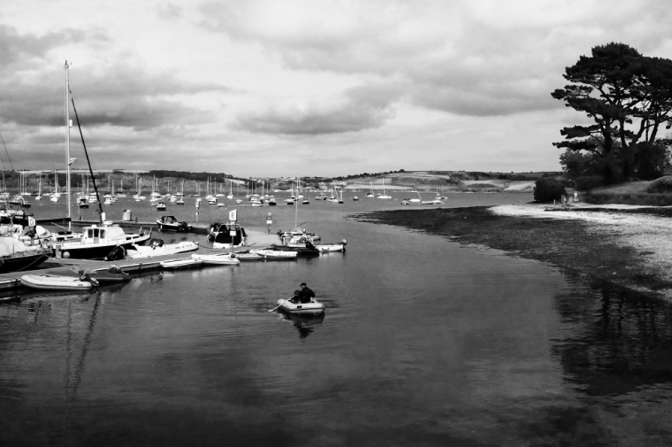 The view across Falmouth harbour from Mylor