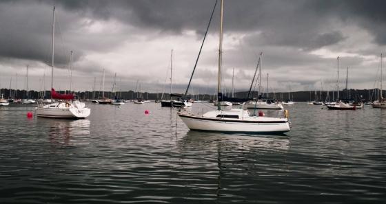 Moored boats, outside Mylor