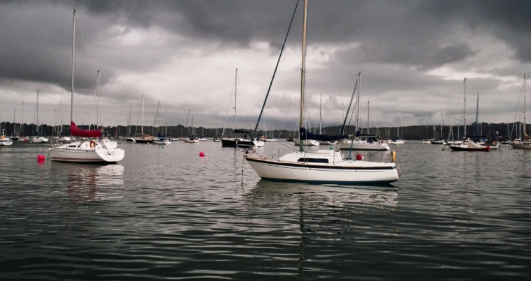 Moored boats, outside Mylor